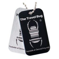 Geocaching QR Travel Bug® - Schwarz