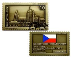 Geocacher's World Geocoin -CZECH REPUBLIC- Antik Gold