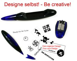 Geocaching Stamp with your Design - Pen 38 x 14