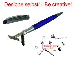 Geocaching Stempel mit Deinem Design - Kuli Indigo 32 x 8