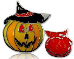 Halloween K?rbis Geocoin Rot LE