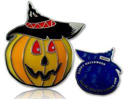 Halloween K?rbis Geocoin Blau LE