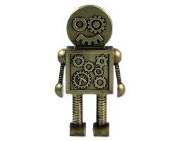 XXL Steampunk Robot Geocoin Antik Gold EXTRA GRO?E Version inkl