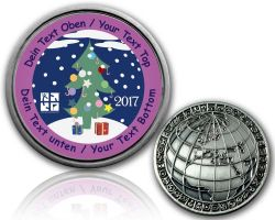 Christmas 2017 - Christmas Tree Geocoin with your Text