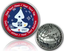 Christmas 2017 - Snow Geocoin with your Text