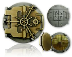 Geocaching Tresor Geocoin (funktional) Antik Gold/Antik Silber