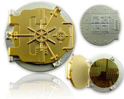 Geocaching Tresor Geocoin (funktional) Satin Gold/Satin Silber