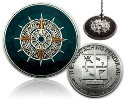 Geocaching Pendular Geocoin XXL Antique Silver (incl. Copy Tag)