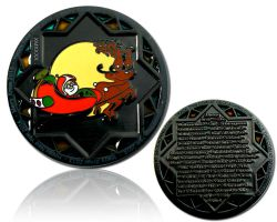 Christmas 2013 Geocoin Black Nickel LE 100