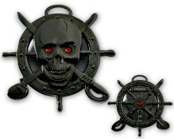 Pirate Skull Geocoin Black Nickel LE 125