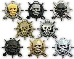 Pirate Skull Geocoin Collector SET (8 COINS)