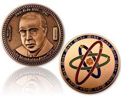 Atommodell Niels Bohr Geocoin Antik Kupfer XLE 75