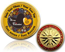 Be my Valentine Geocoin with your Text