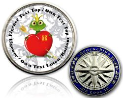 Valentine Frog Geocoin with your Text