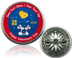 Valentine Mouse Geocoin with your Text