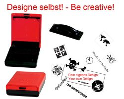 Geocaching Stamp with your Design -Pocket Stamp 38 x 14