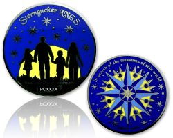Sterngucker Geocoin Polished Silver