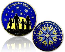 Sterngucker Geocoin Polished Gold