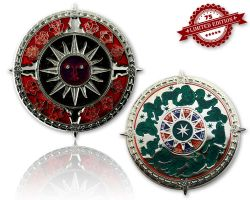 Zodiac Compass Geocoin Poliertes Silber XLE 75