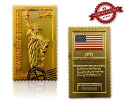 Geocacher's World Geocoin -USA- Satin Gold XLE 75