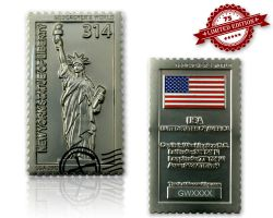 Geocacher's World Geocoin -USA- Satin Silber XLE 75