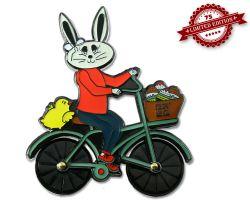 Easter Bunny Fahrrad Geocoin Black Nickel XLE 75 (drehbare R?der