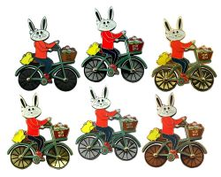 Easter Bunny Bicycle Geocoin Collector SET (6 COINS)