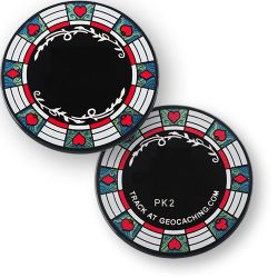 Poker Chip Casino Geocoin Schwarz Blau