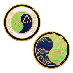 Groundspeak Cache In Trash Out (CITO) Geocoin Gold Edition