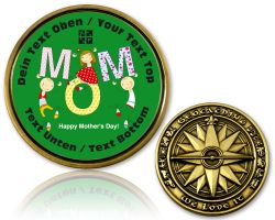 Happy Mother's Day Geocoin with your Text