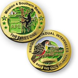 The Last APE Cache Geocoin - Mission 4