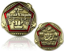 The Real Climb II Geocoin Antik Gold