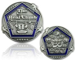 The Real Climb II Geocoin Antik Silber