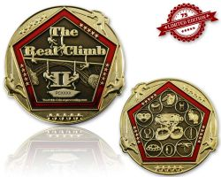 The Real Climb II Geocoin Poliertes Gold XLE 75
