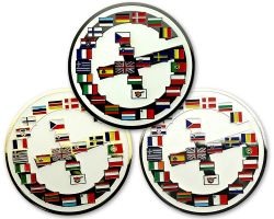 Geocaching Europe Geocoin Sammler SET (3 COINS)