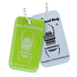 Geocaching QR Travel Bug® - Grün