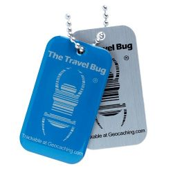 Geocaching QR Travel Bug? - Blau