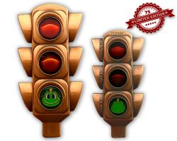 100 Years Traffic Light Geocoin Antique Copper XLE 75
