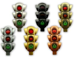 100 Years Traffic Light Geocoin Collector SET (6 COINS)