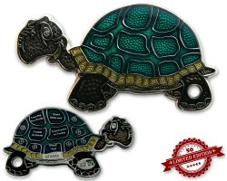 GeoTurtle Geocoin - Peter the Funny XLE 50