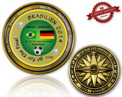 2014 Brazil - Semi Final Geocoin (XLE 50)