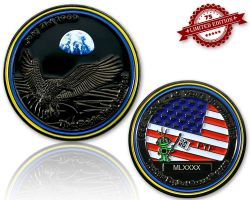 Moonlanding Geocoin 1969 - Black Nickel XLE 75