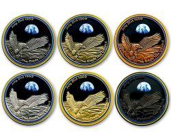 Moonlanding Geocoin 1969 Collector SET (6 COINS)