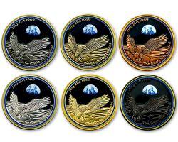 Mondlandung Geocoin 1969 Sammler SET (6 COINS)