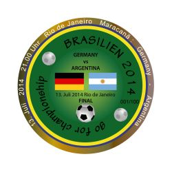 2014 Brasilien - Final Geocoin (LE 100)