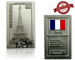 Geocacher's World Geocoin -FRANCE- Satin Silber XLE
