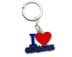 I Love Geocaching II Key Pendant