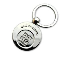 Geocaching Shopping Cart Key Pendant