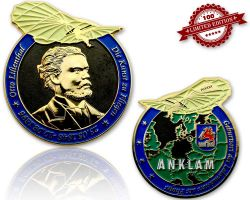 Otto Lilienthal Geocoin Black Nickel/Gold LE 100