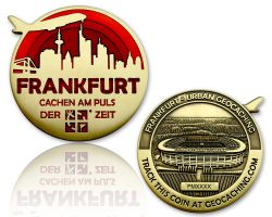 Frankfurt Geocoin Antique Gold - RED